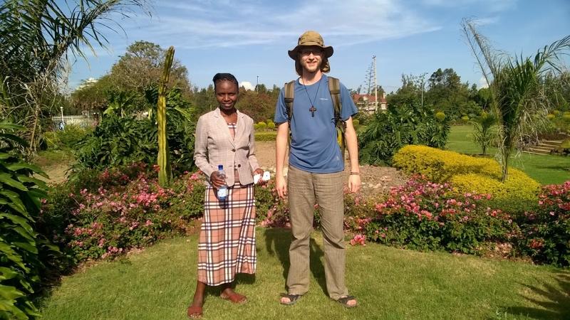 Z Weroniką, jedną z uczestniczek dotychczasowych rekolekcji w Kenii.