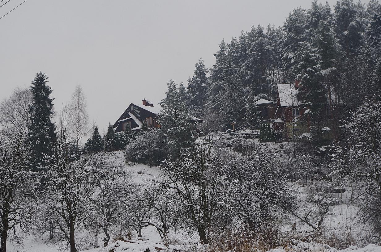 fot. Dorota Kozyra. Gorąca atmosfera rekolekcji sprawiła, że w Krościenku zaczął topnieć śnieg.