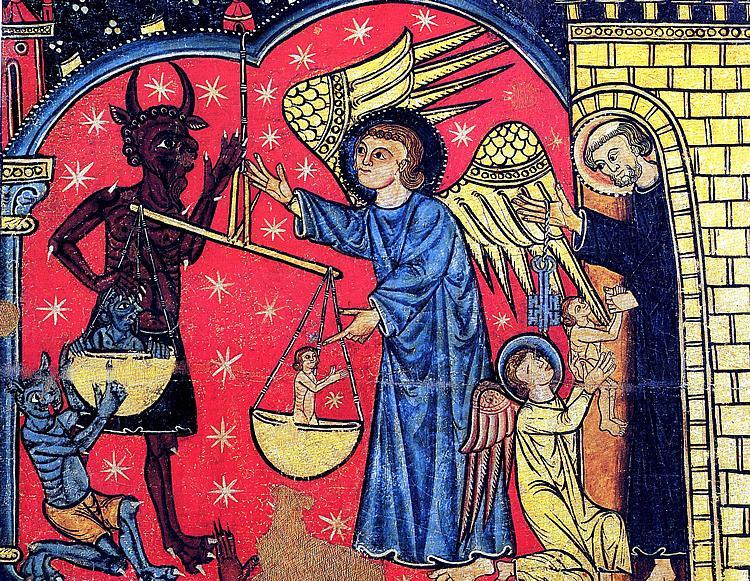 Archanioł Michał ważący ludzkie dusze