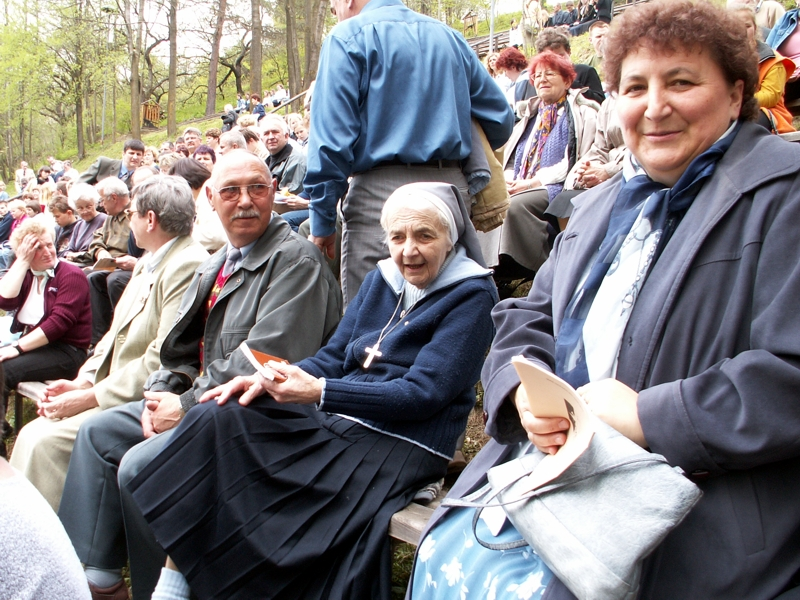 W czasie COM 2005 r. fot. M. Szepietowski